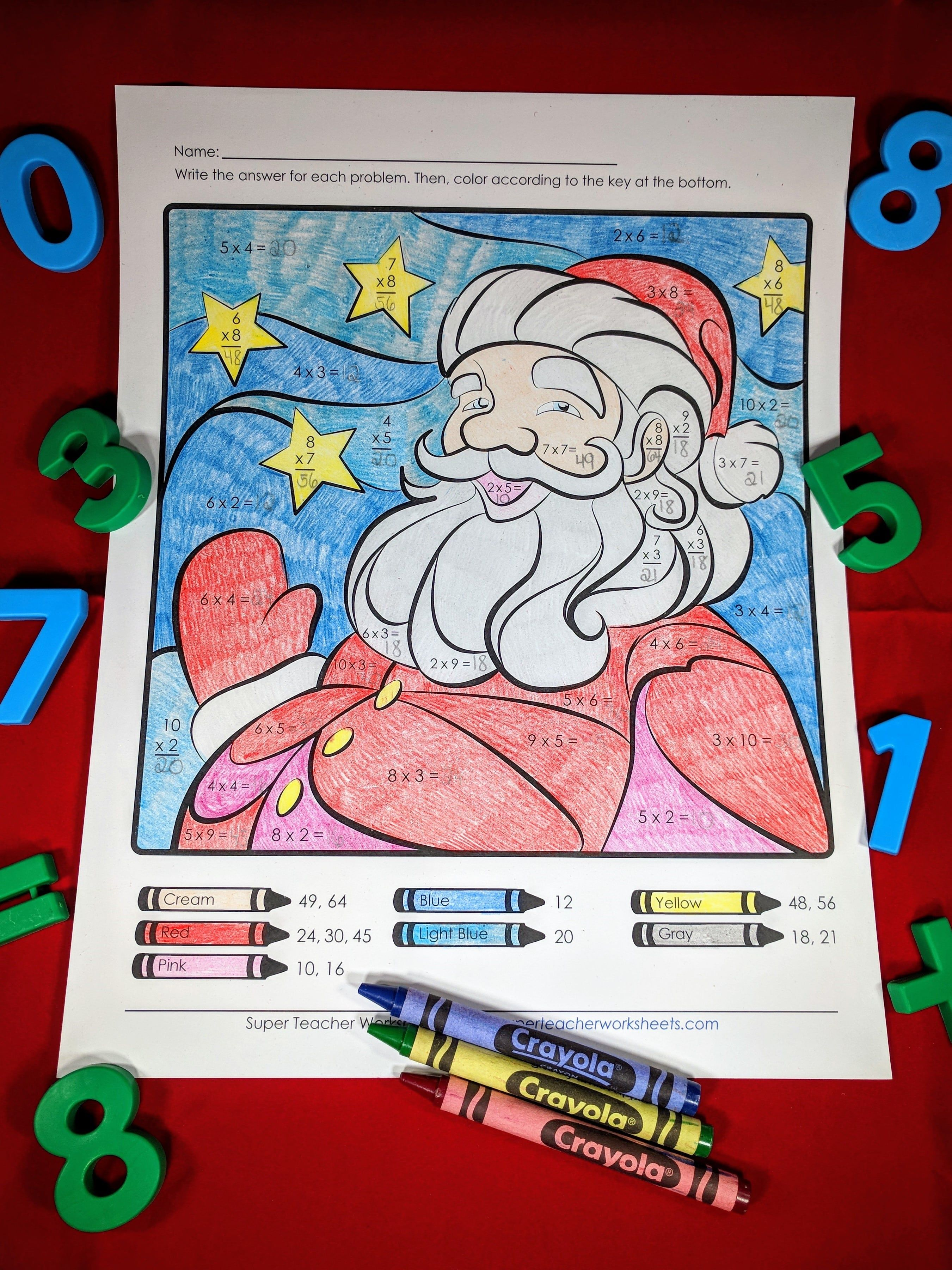 Multiply The Holiday Magic In Your Classroom Find This Santa Math Mystery Picture On Our Christmas Super Teacher Worksheets Christmas Worksheets Super Teacher [ 3601 x 2701 Pixel ]