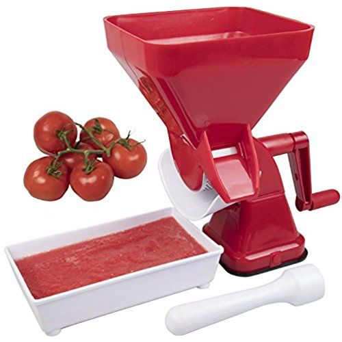 Tomato Strainer- Juicer Food Mill for Easy Purees- No Coring, Peeling or Deseeding