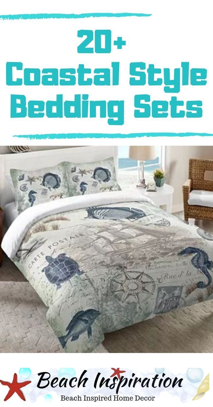 Photo of 20 Coastal Bedding Sets For Beach Themed Bedroom #beachcottageideas 20+ Coastal …