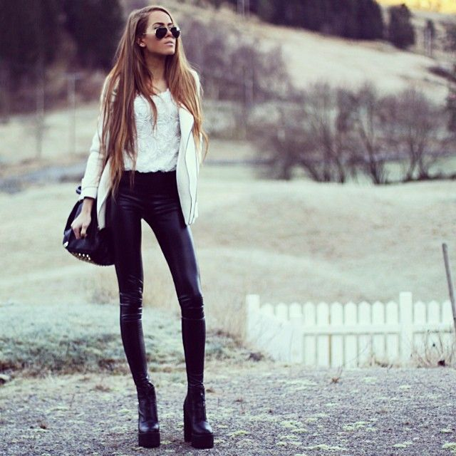 Leather tights!