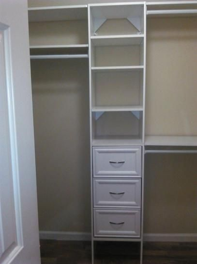 Closetmaid Selectives 48 In W 113 In W White Wood Closet System 7032 The Home Depot Closet Renovation Bedroom Organization Closet Custom Closet Organization