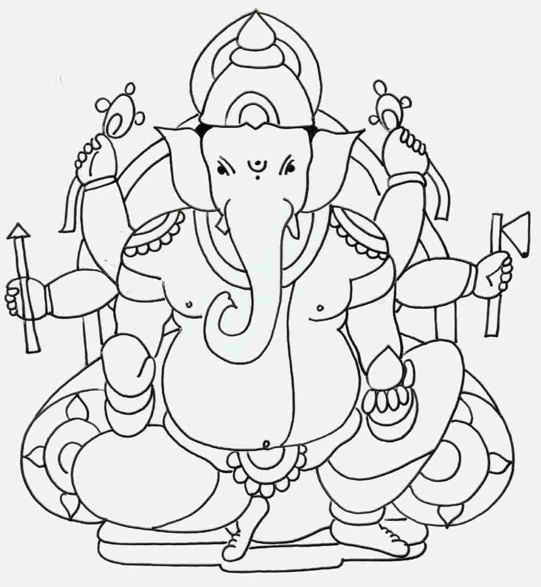 Ganesh Ji Drawing Simple Easy Ganesh Drawing In 2020 Art Drawings Ganesha Art