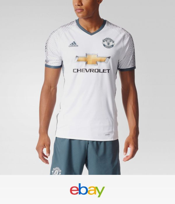 eb83b2d6880 adidas Manchester United FC Authentic Third Jersey Men s White ...