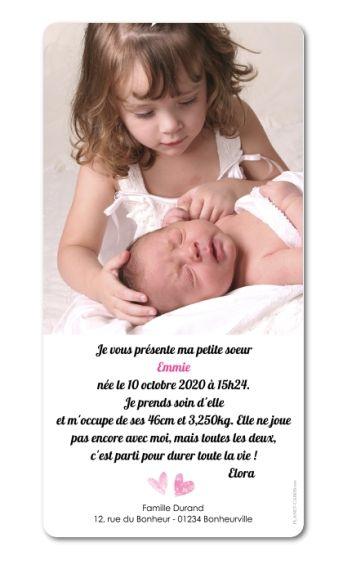 Faire part naissance Douceur (E-354)
