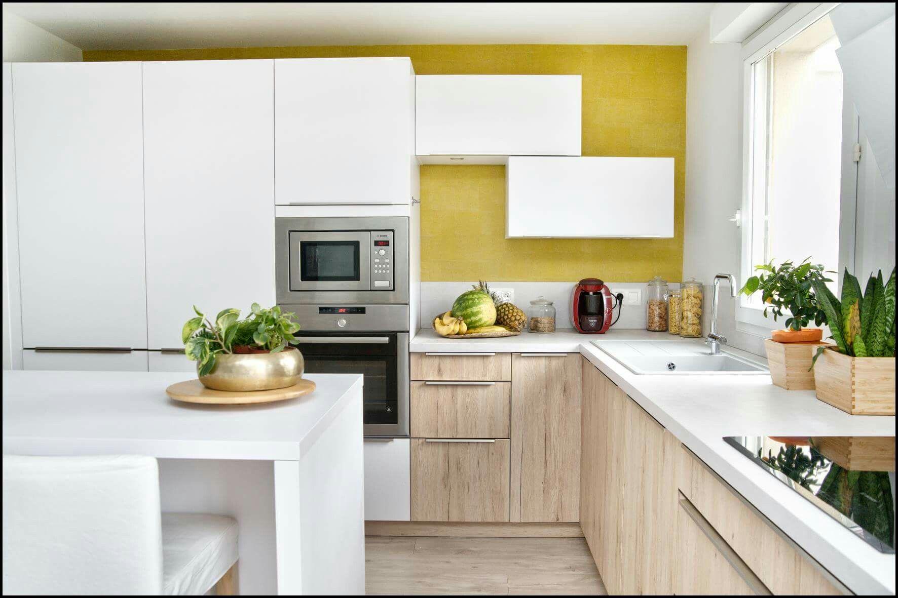 Agencement & decoration cuisine - bois, blanc, beton gris, papier