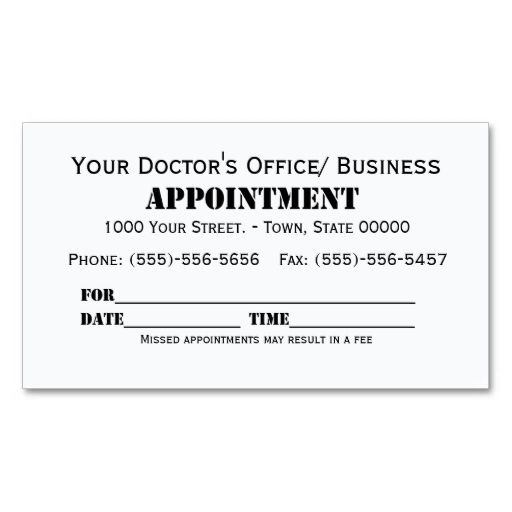Appointment appointments card templates and business cards accmission Image collections
