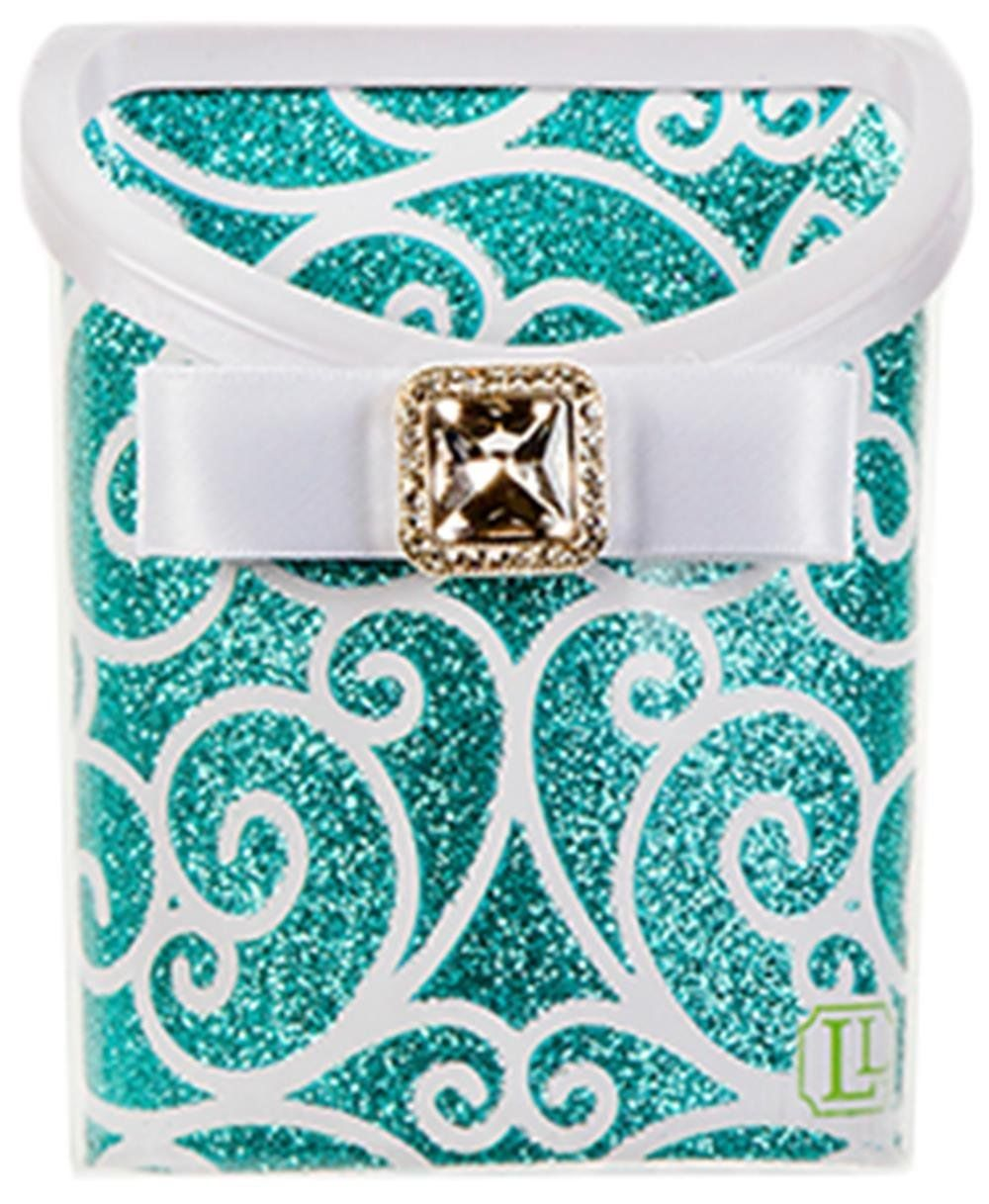 What a cute locker storage bin - sticks to your locker with magnets!  Perfect for holding pens or other small items. Locker Lookz Bins Blue Scroll #locker #bling