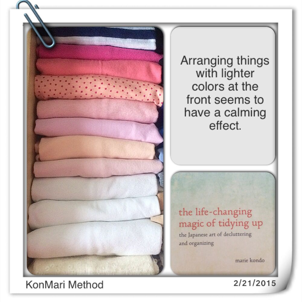 Konmari Method Arranging By Color☽ ☆ ☾ ღ‿ Sat