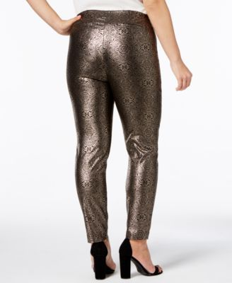 745a5c6510eae Alfani Plus Size Metallic Skinny Pants