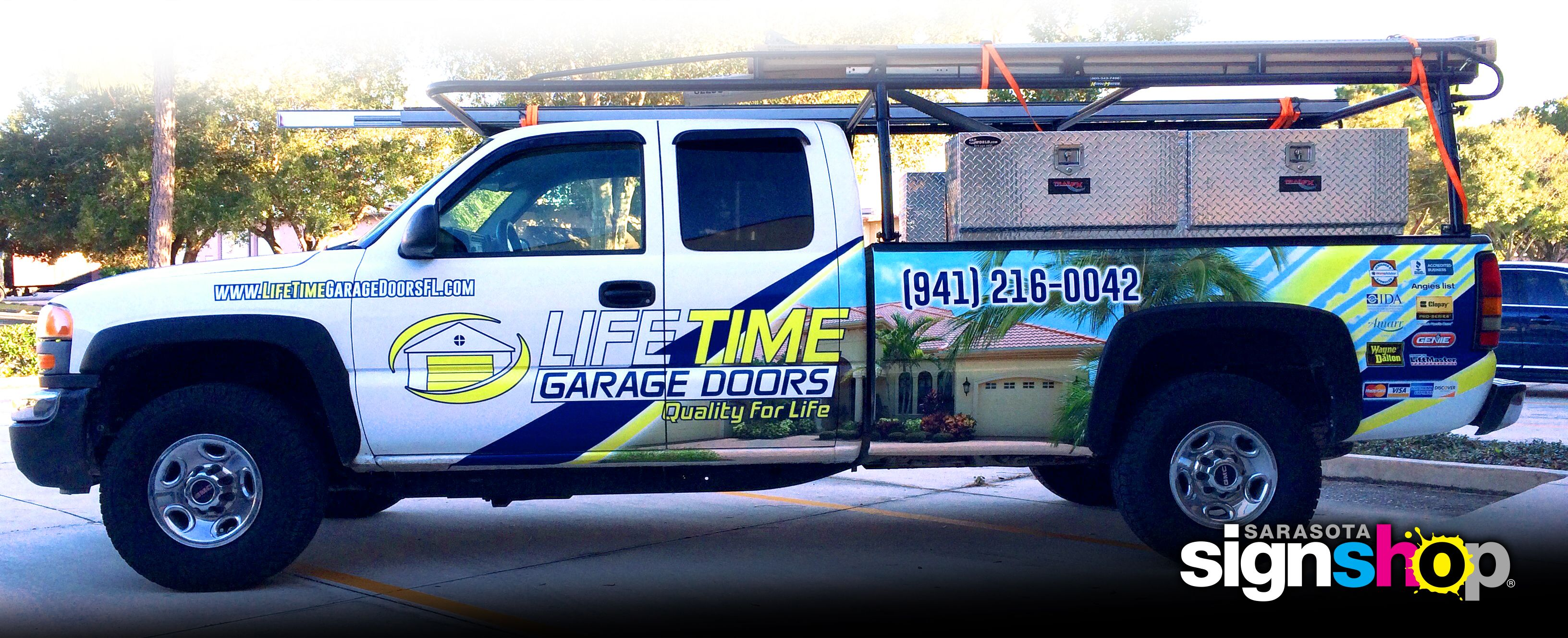 Another quality Wrap produced for LifeTime Garage Doors