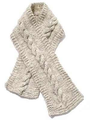 Free Knitting Pattern 60053 Cable Scarf : Lion Brand Yarn Company ...