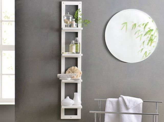 Etagere murale blanche becquet ren e pinterest for Decoration murale blanche