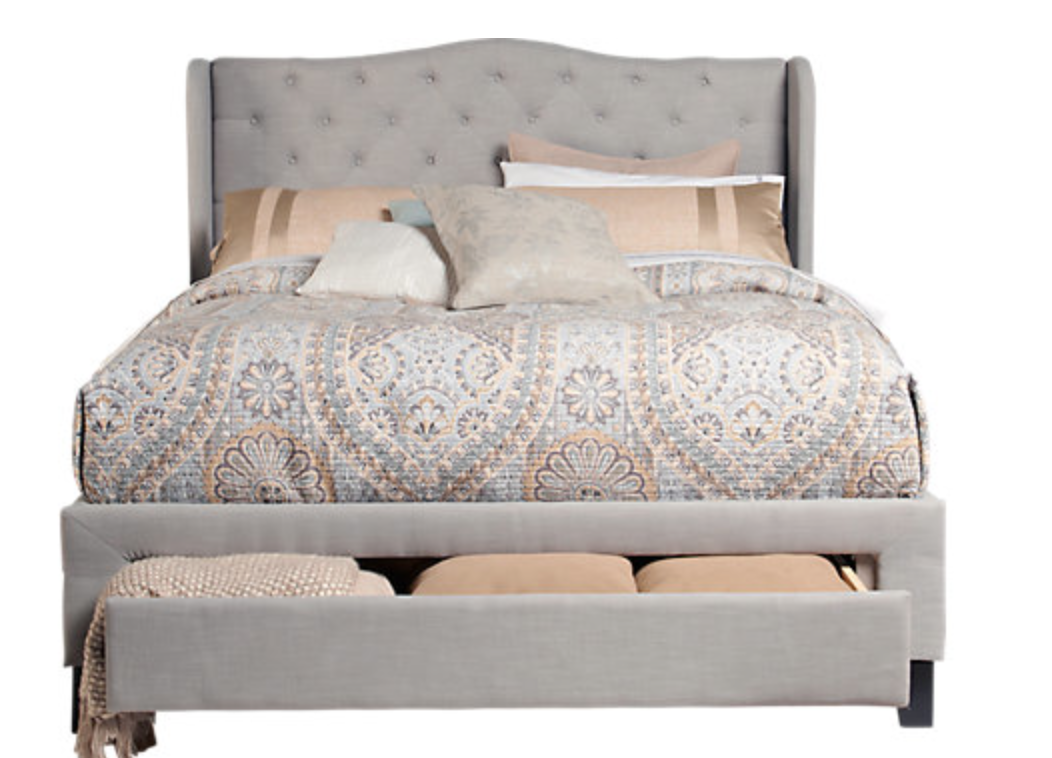 rooms to go cali bed king storage furniture with nightstands built in