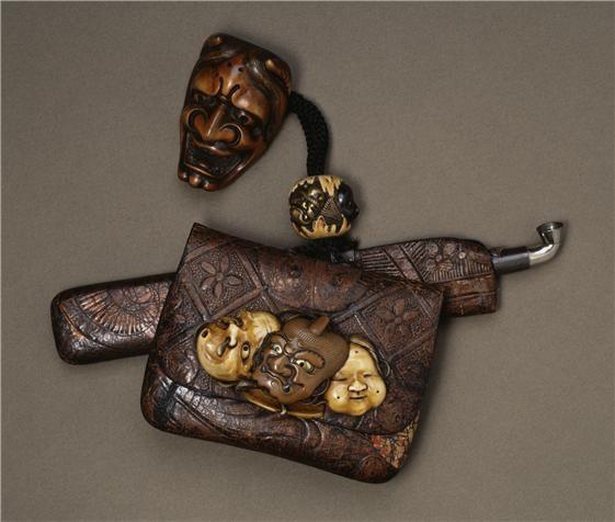 Walters Art Museum                                Smoking Set with Masks  Artist:  Tadatsugu (Japanese)    Artist:  Japanese    Date (Period):  18th-19th century (Edo-Meiji)