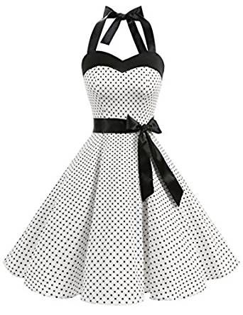 Retro Rockabilly 50er Jahre Kleid Rock N Roll Mottoparty 60er Jahre Bekleidung Kleidung Mode Kleidung