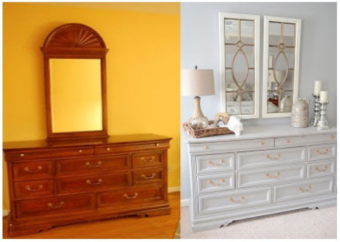 Before After Dresser Transformation
