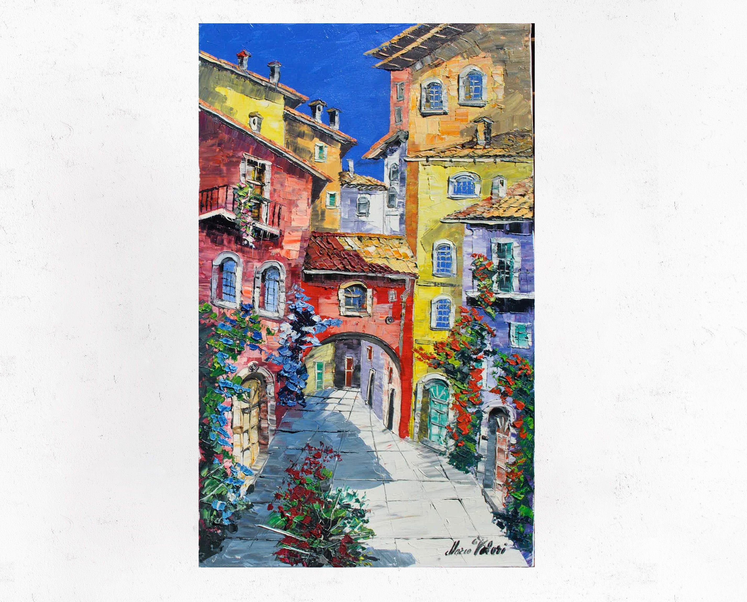 Pittura toscana su tela, arredamento wall art, idea regalo ...