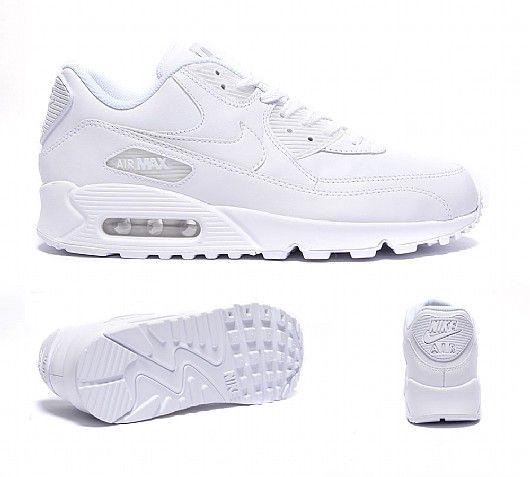 white nike air max trainers