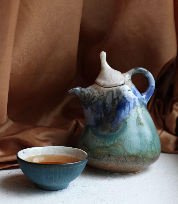 Twilight Teapot by HerbariumCeramics on Etsy