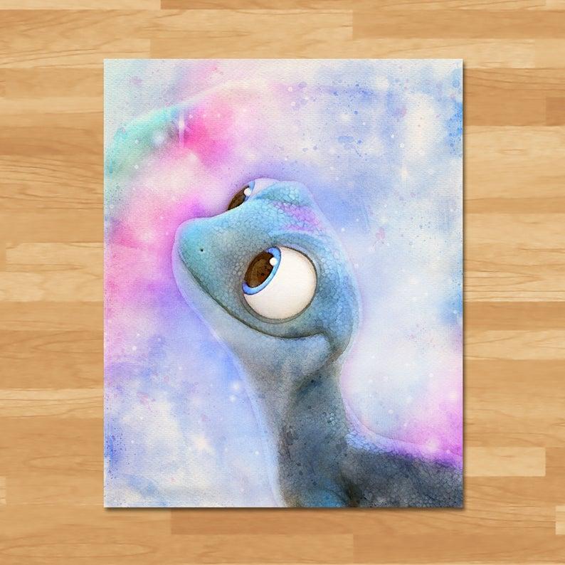 Frozen 2 Watercolor Painting Instant Download Princess