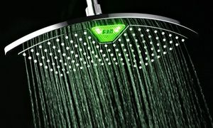 Soffione Doccia Led Groupon.12 Fan Rainfall Showerhead With Led Lcd Display Products I Like