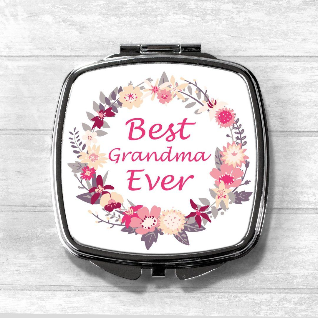 Best grandma ever compact mirror mothersday gifts