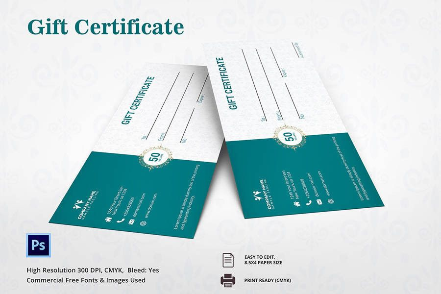 7 Free Gift Certificate Templates Spa Restaurant Travel – Travel Certificate Template