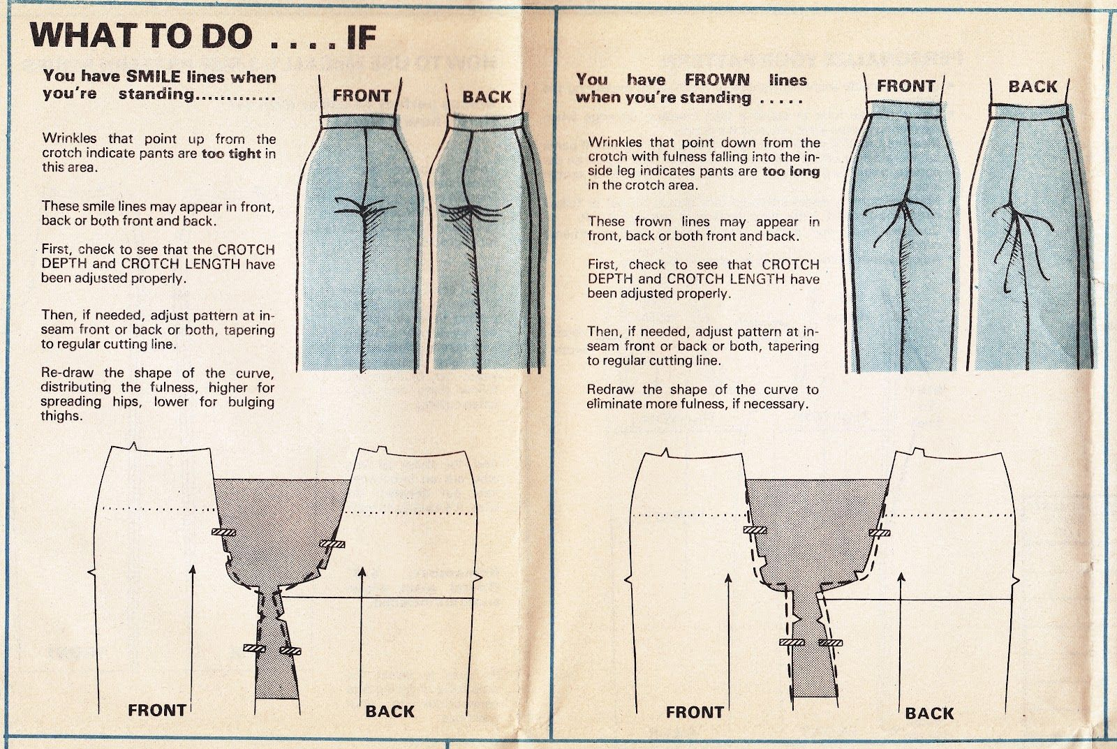 What to do it you have smile or frown lines on your pants when ...
