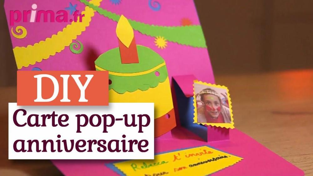 carte anniversaire : comment faire une carte d invitation - Carte Anniversaire Imprimier … | Diy ...