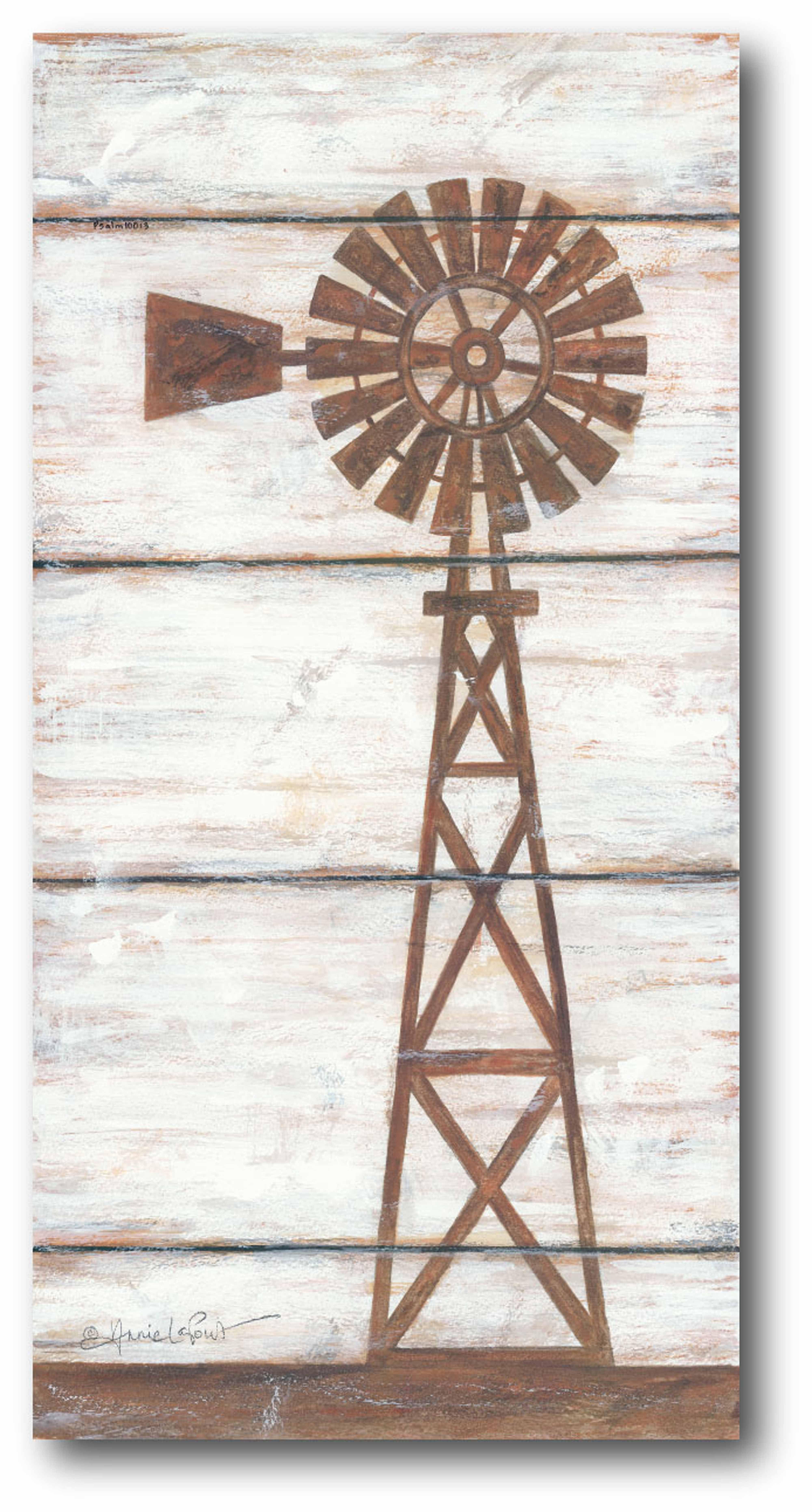Farmhouse Windmill II GalleryWrapped Canvas Wall Art