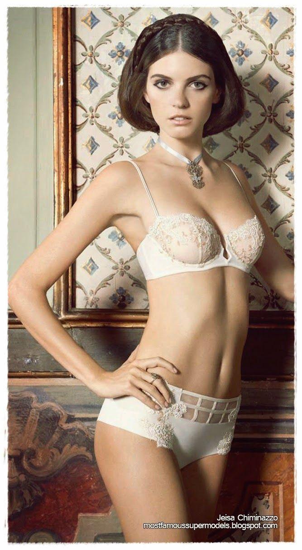 442a98ead5 Famous Supermodel Jeisa Chiminazzo Lingerie Photoshoots