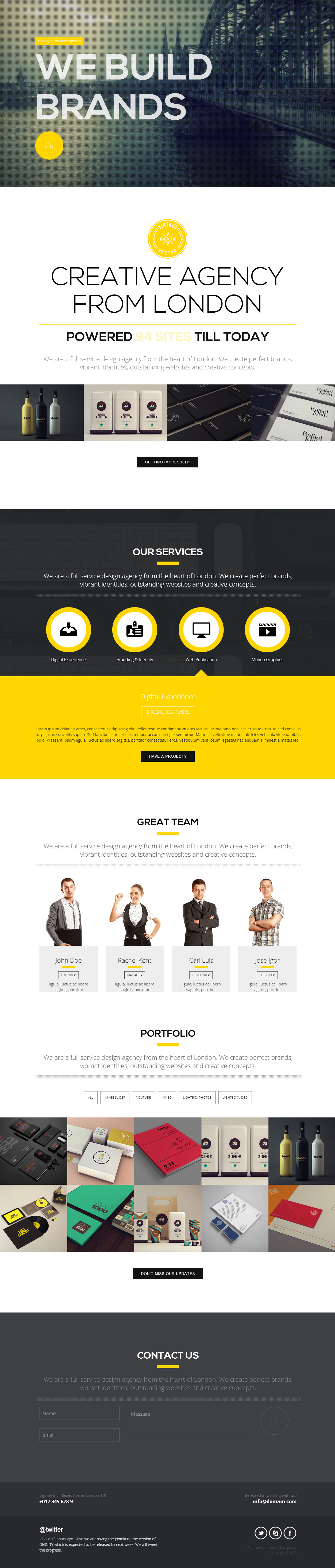 Dignity is Premium Responsive Retina HTML5 Portfolio Template with ...