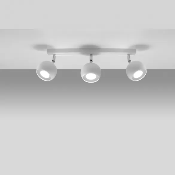 Deckenlampe Weiss Mit 3 Spots Und 45 Cm Lange Kostenfreier Versand Deckenlampe Weiss Deckenlampe Lampen
