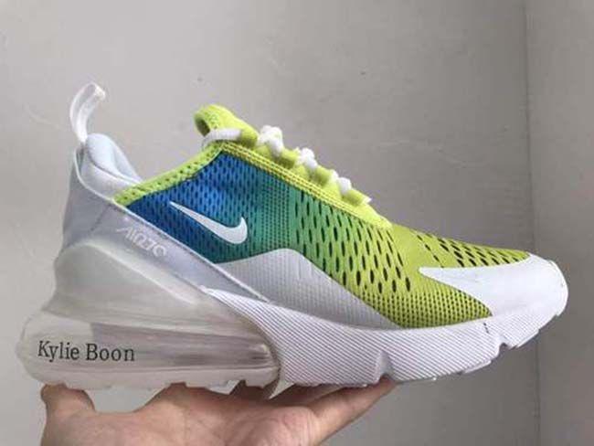 8bf5ea9403 2019 Nike Air Max 270 270-70 Blue Fluorescent Green 36-45-66081994 ...