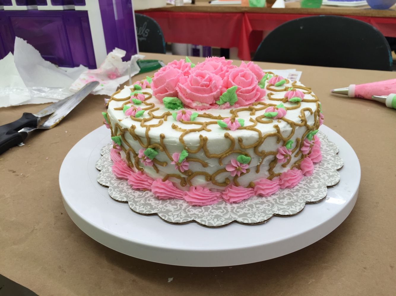 Course 1 Class 4 Of Michael S Cake Decorating Class