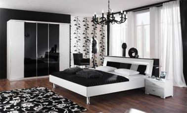 Interior Design 2014: black and white bedrooms designs, paint ...