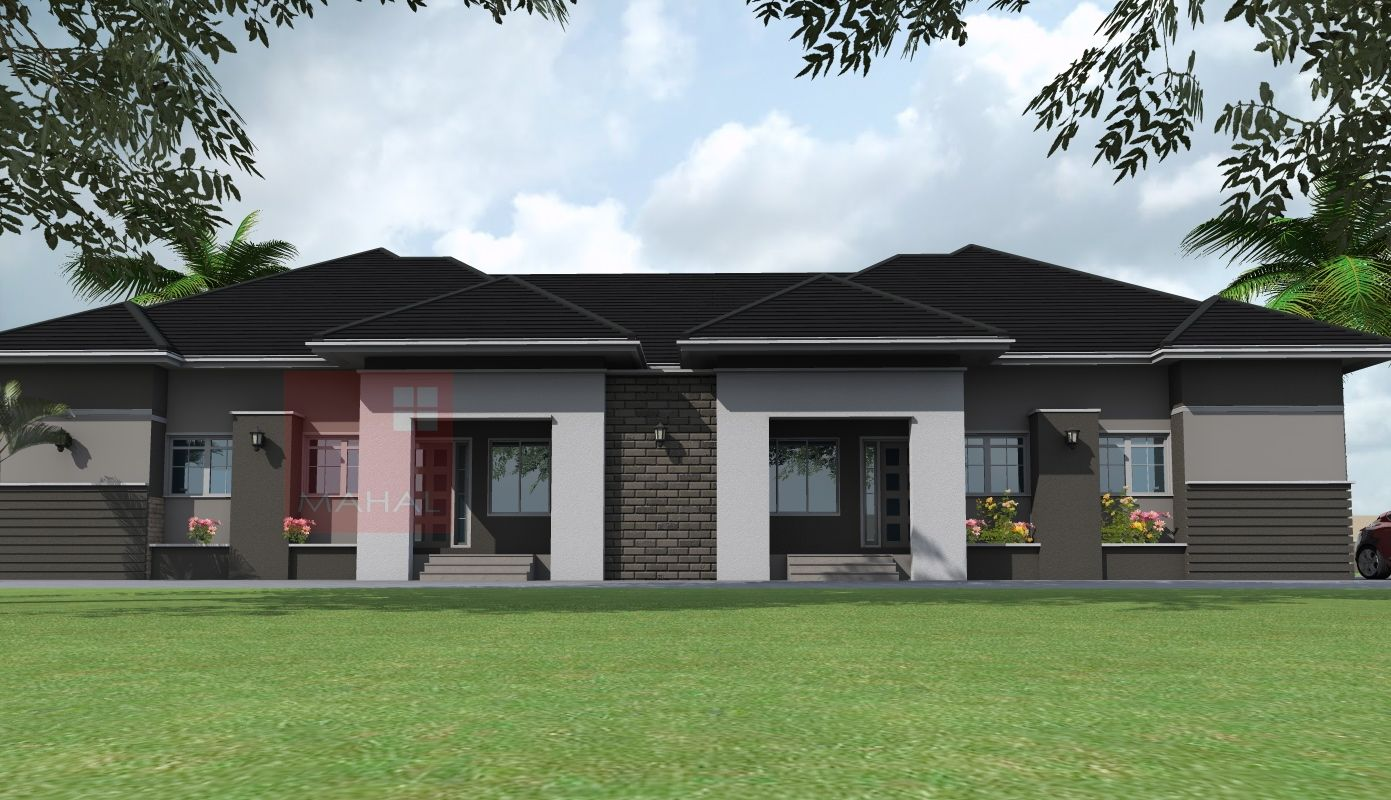 Contemporary Nigerian Residential Architecture 3 Bedroom Semi Stunning Three Bedroom Bungalow Design Inspiration