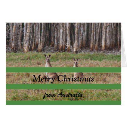 Merry Christmas from Australia blank card