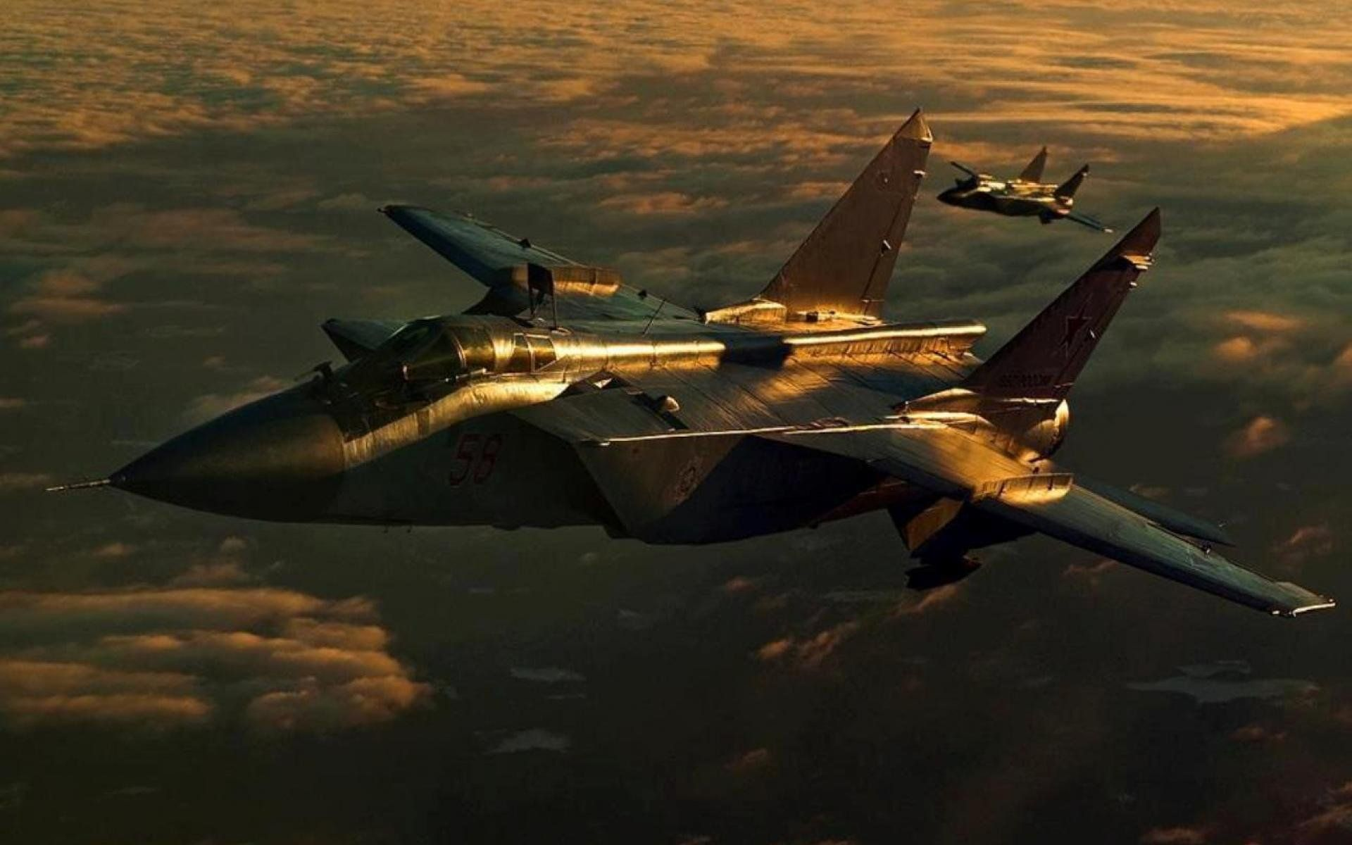 Mig 31 Fighter Jet Military Airplane Plane Russian Mig 25