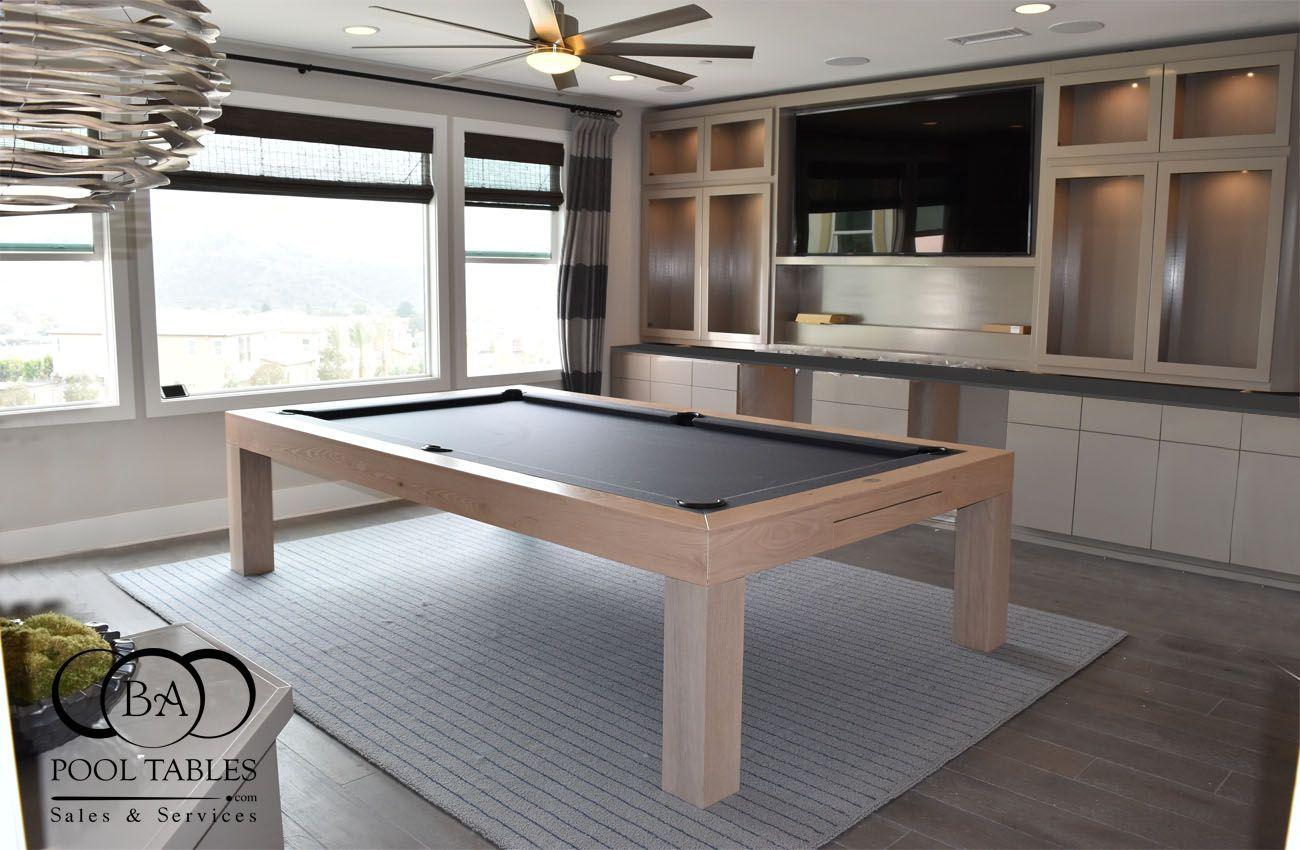 BELLAGIO POOL TABLE WHITE WASH in 2020 Modern pool table
