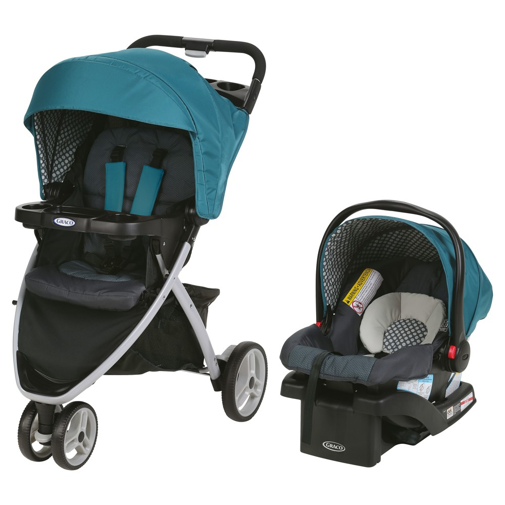 The Graco Pace Click Connect Travel System features a