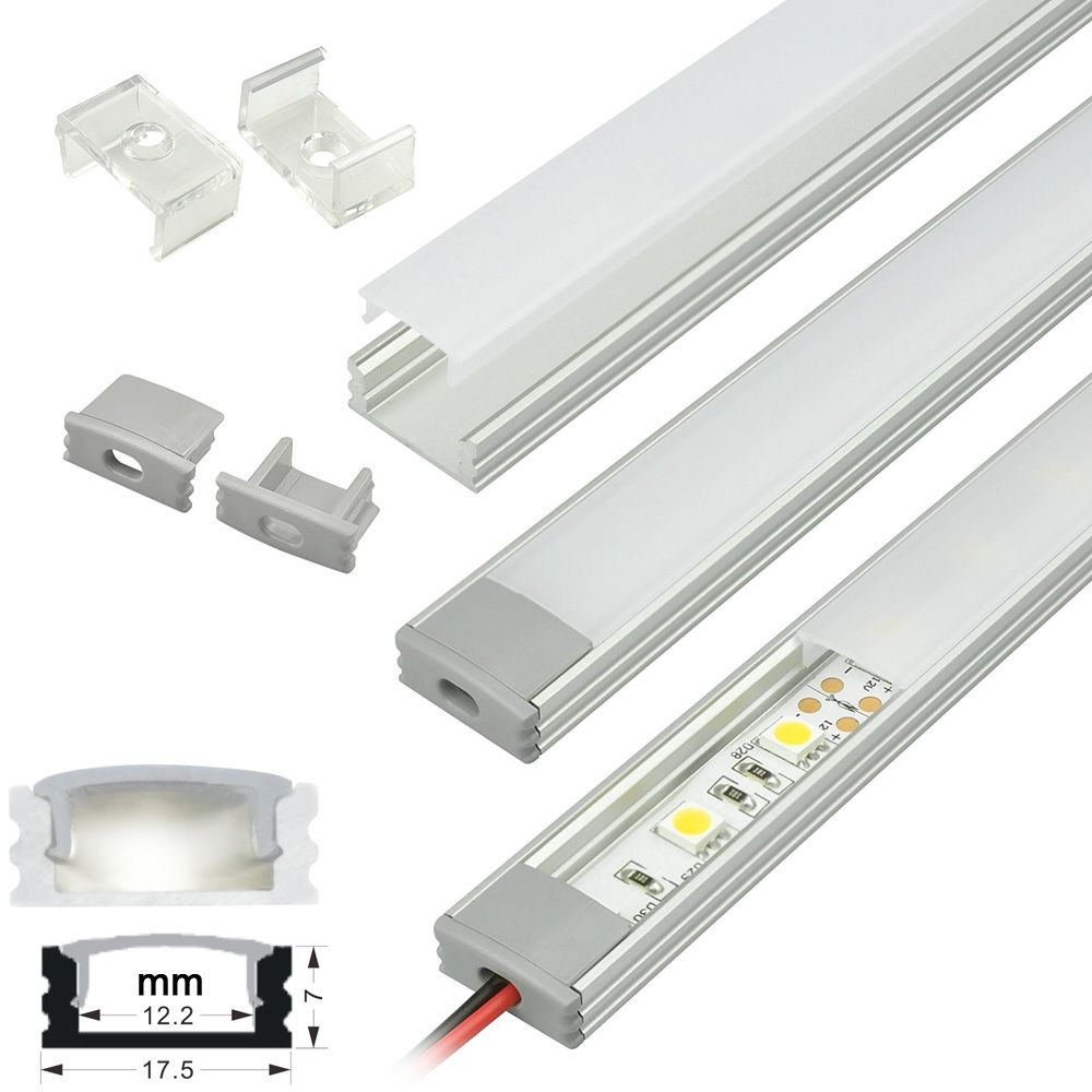 Aluminum Channels Protect And Provide Light Diffusion For Our 10 12mm Led Strip Lights Led Lighting Diy Strip Lighting Interior Led Lights