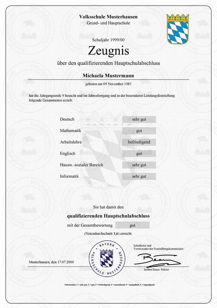 Hauptschulabschluss online kaufen | Hauptschulabschluss kaufen | Berufszertifikate & Diplome