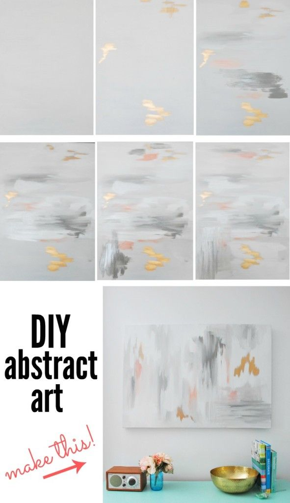 Make Your Own Diy Abstract Art With This Tutorial The Sweetest Digs Abstract Art Diy Abstract Painting Diy Diy Art Projects