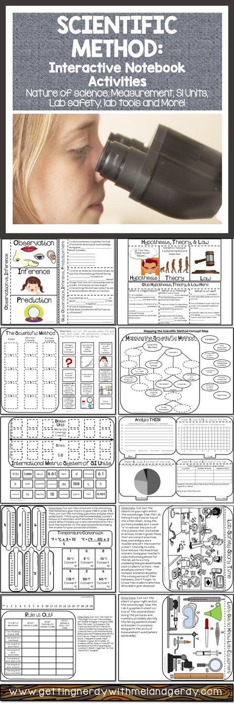Scientific Method - Interactive Notebook Scientific method, Metric - scientific method worksheet