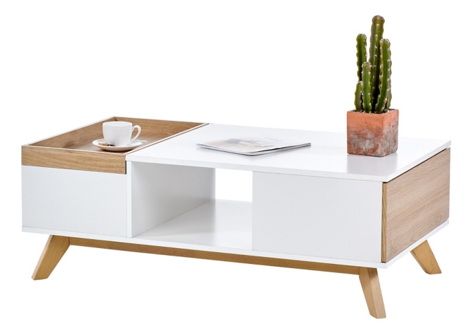 table basse scandinave cleo blanc