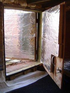 conditioned crawl space access door