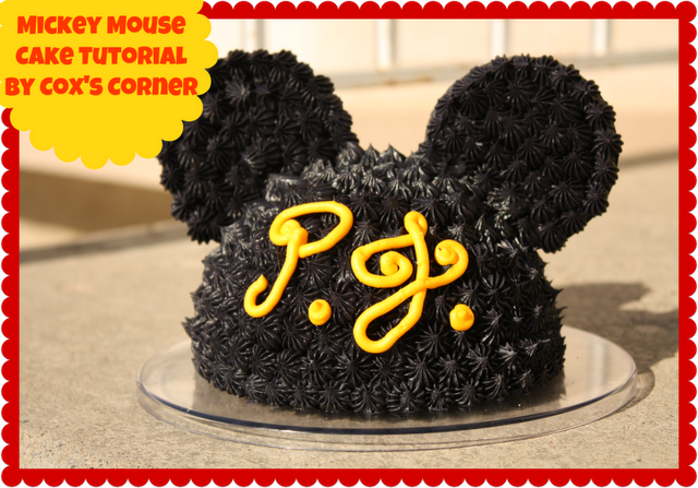 Cox's Corner: Mickey Mouse Cake Tutorial