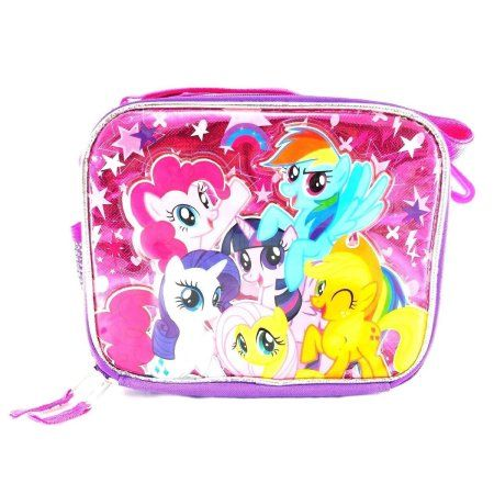 Girls Children Kids Pink My Little Pony School Lunch Box Insulated Foldable Bag