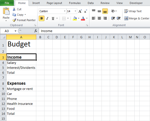 Budget Template in Excel | Budgeting and Create